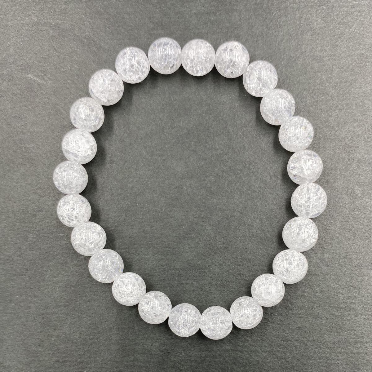 【Standard】クラック水晶ブレスレット 8mm CRC-B-8-001